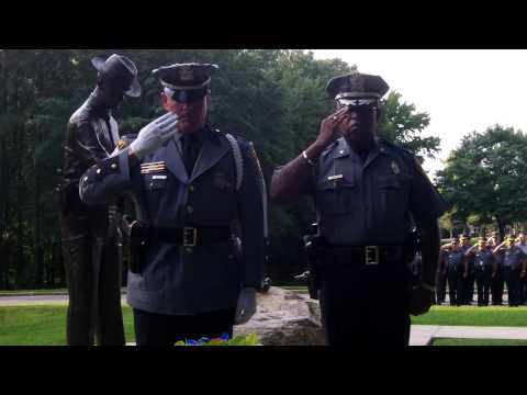 Wreath laying ceremony for fallen Henrico Police Officer Jerry E. Trimmer. Last watch - 8/14/66.