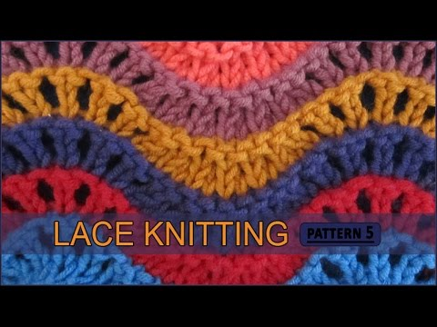 Old Shale   Lace Knitting Pattern #5