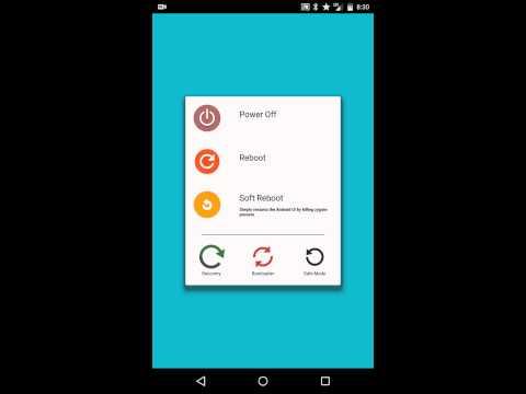 Material Power Menu for Google Nexus 6 from Motorola