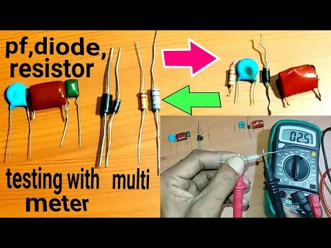 RESISTOR DIODE PF TRANSISTOR- HOW TO TEST USING A MULTI METER.