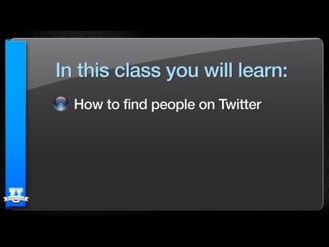 How to Find People on Twitter
