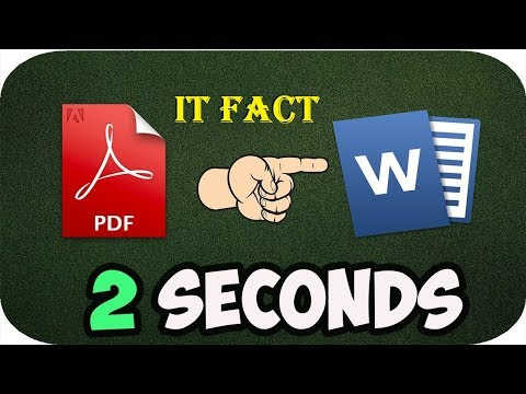 Convert PDF to Word in 2 Seconds (Offline) with adobe acrobat 9 pro
