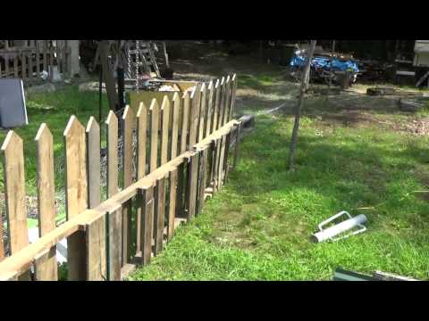 Making A Free Pallet Wood Picket Fence