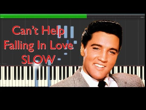 Elvis Presley Can't Help Falling In Love Slow Piano Tutorial - How To Play
