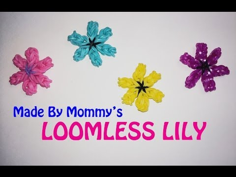 Lily Flower Charm or Ring Without the Rainbow Loom