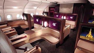 Qatar Airways A380 First Class Doha to Paris (+Al Safwa lounge)