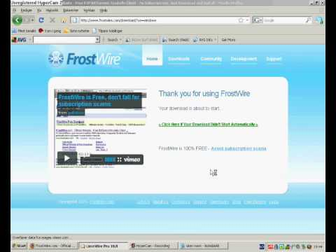 How to download free music with Limewire or Frostwire