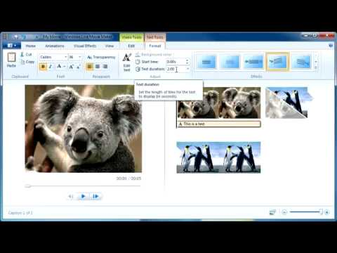 Windows Live Movie Maker Quick Tutorial