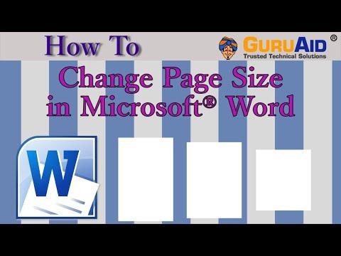 How to Change Page Size in Microsoft® Word - GuruAid