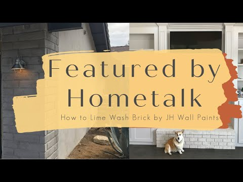 Featured on Hometalk: Lime Wash on Red Brick