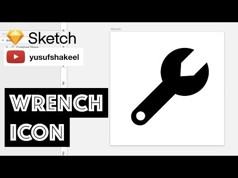 WRENCH icon - Sketch - dyIcons - E06 - Yusuf Shakeel
