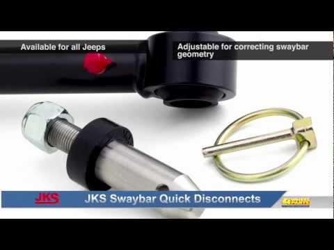 JKS Swaybar Quick Disconnects for Jeep