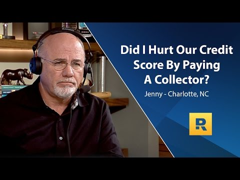 Did I Hurt Our Credit Score By Paying A Collector?