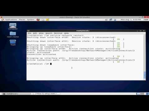 How to setup static ip address and hostname centos and Rhel