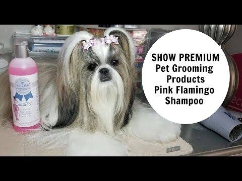 Show premium PINK FLAMINGO Dog shampoo review