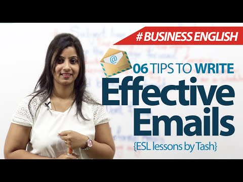 06 tips to write effective emails – Free Business English & Spoken English Lessons