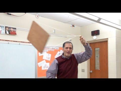 Swinging tray -centripetal force -Greek waiter tray // Homemade Science with Bruce Yeany