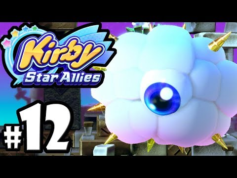 Kirby Star Allies - 2 Player Co-Op! - Switch Gameplay Walkthrough PART 12: Twin Kracko Attack-o