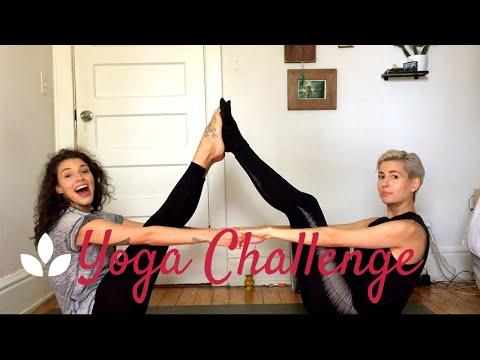 LESBIAN COUPLES YOGA CHALLENGE | Alexis & Lilian