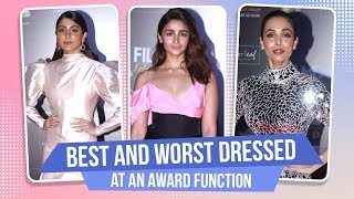 Alia Bhatt, Anushka Sharma, Malaika Arora :Best & Worst dressed at an award function | Pinkvilla