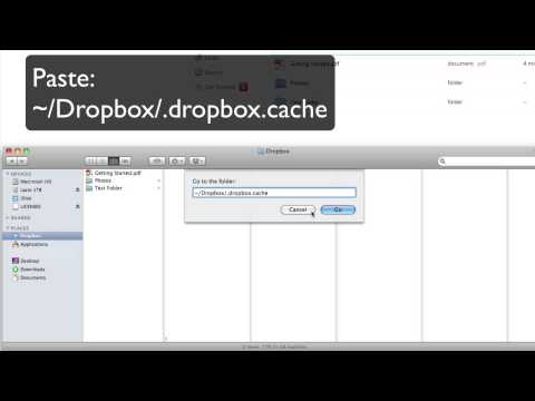 How to delete Dropbox Cache