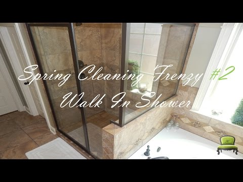 Spring Cleaning Frenzy  #2 | Cleaning My Walk-In Shower | Protect Your Back