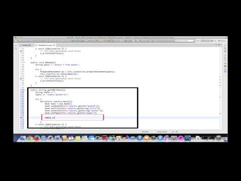 MVC Database Example -  Read Use Case