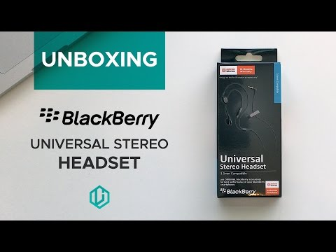 BlackBerry Universal Stereo Headset Unboxing and Impressions