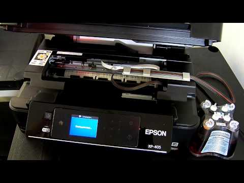 Ciss continuous ink system fits Epson Expression XP-405, XP405, xp-405 wh