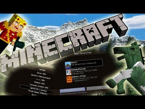 MineCraft 1.6 SnapShot 13w23a Giant Forests, Undead Horses, Resource Packs