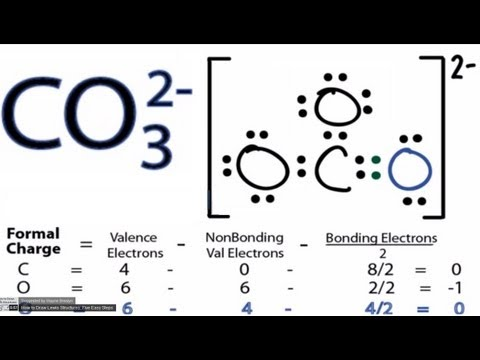 CO32- Lewis Structure - How to Draw the Lewis Structure for CO3 2-  (Carbonate Ion)