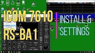 Using the ICOM IC-7610 over remote via RS-BA1 remote control