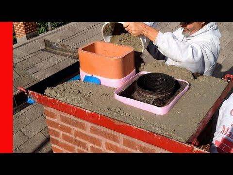 How to repair a bad chimney crown