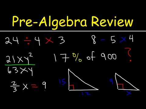 Pre-Algebra - Basic Introduction!