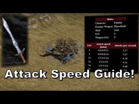 Diablo 2: Understand IAS breakpoints! Attack Speed guide.