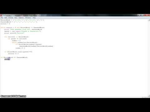 Python Homework 4.1 - Hangman!