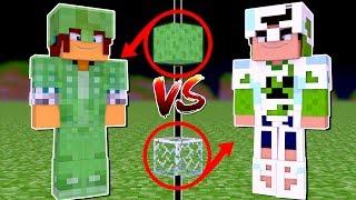 Minecraft: ARMADURA DE SLIME VS ARMADURA DE VIDRO !!