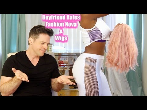 BoyFriend Rates my Fashion Nova Outfits AND WIGS | NikkiBeautyBliss