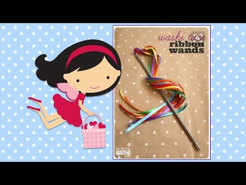 FUN FAST FRIDAY  Washi Tape Ribbon Wand