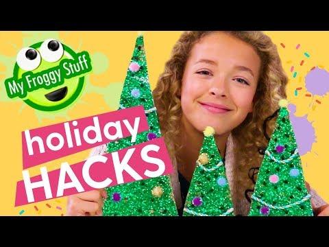 Christmas Crafts: Christmas Village, DIY Christmas Tree, String Lights | MyFroggyStuff x GoldieBlox
