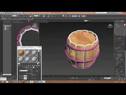 3Ds max Create a Barrel