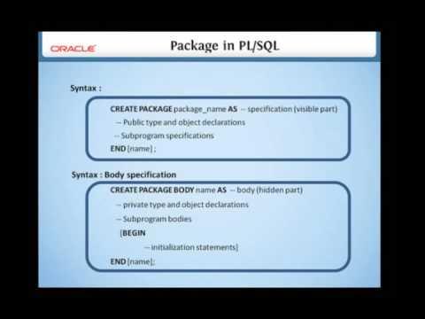 11 3 Package in PLSQL