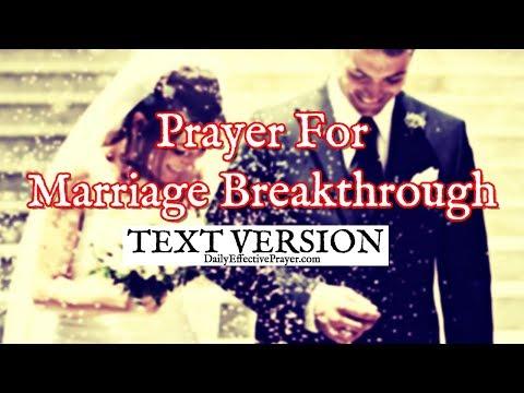 Prayer For Marriage Breakthrough - Marital Breakthrough Prayers (Text Version - No Sound)