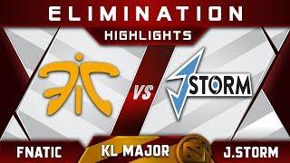 Fnatic vs J.Storm [ACTION] Kuala Lumpur Major KL Major Highlights Dota 2