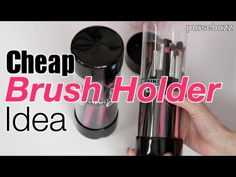 Cheap Brush Holder : Make Up Artist Brush Holder, Can, DIY