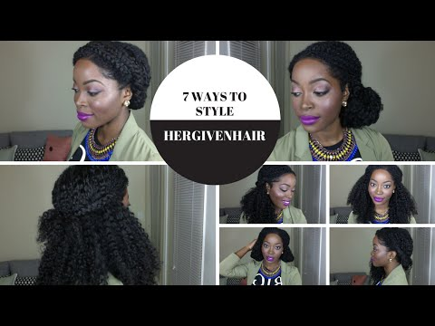 7 ways to Style a Kinky Curly Upart Natural Hair Wig: Hergivenhair   Protective style
