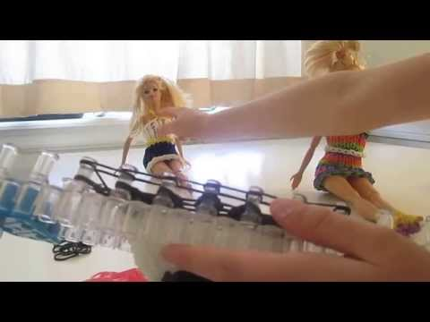 Super cute Barbie dress on one rainbow loom (part two)