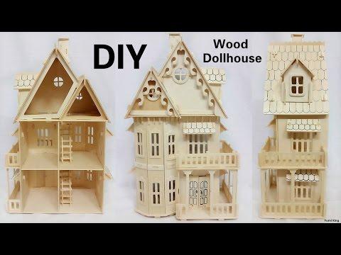 DIY Mini Dollhouse   DIY Wood Two Floor Dollhouse Construction