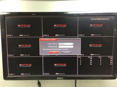 CP plus DVR  admin password reset 2018