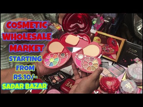 COSMETIC WHOLESALE MARKET AT VERY CHEAP PRICE, MAKEUP KIT AND COSMETIC PRODUCTS TELIWARA SADAR BAZAR